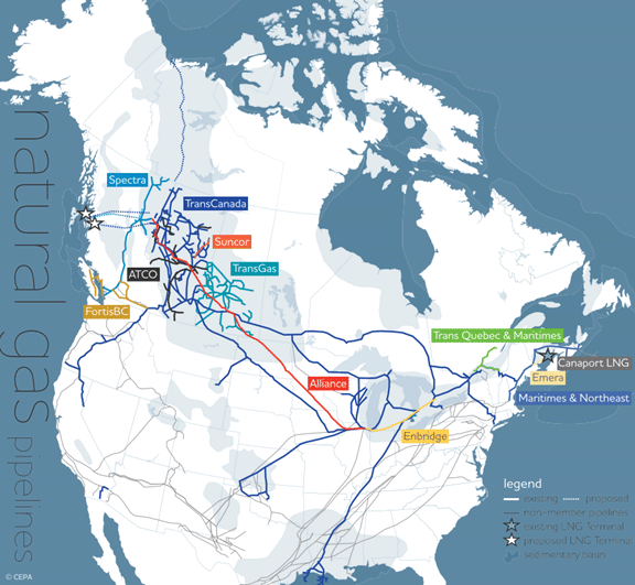 EIA Canada Oil Market Overview Energy News Energy Bunker Ports - Map of us pipeline system